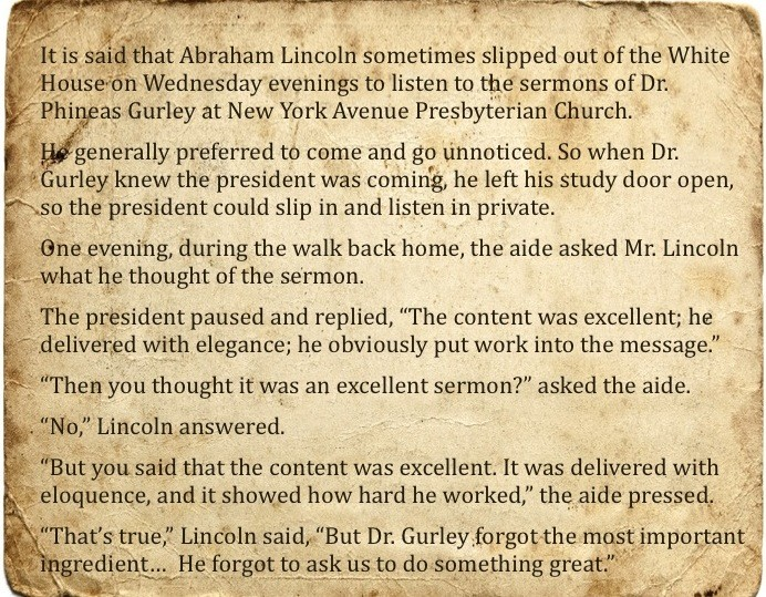 Lincoln Story