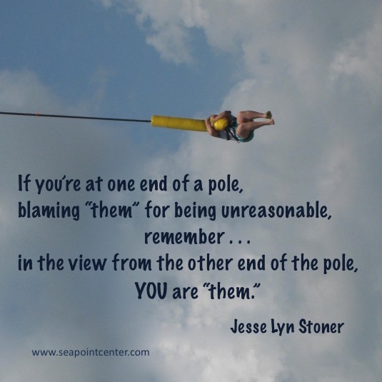 If you're at one end of a pole...