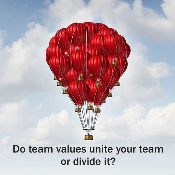 Do team values unite or divide your team?